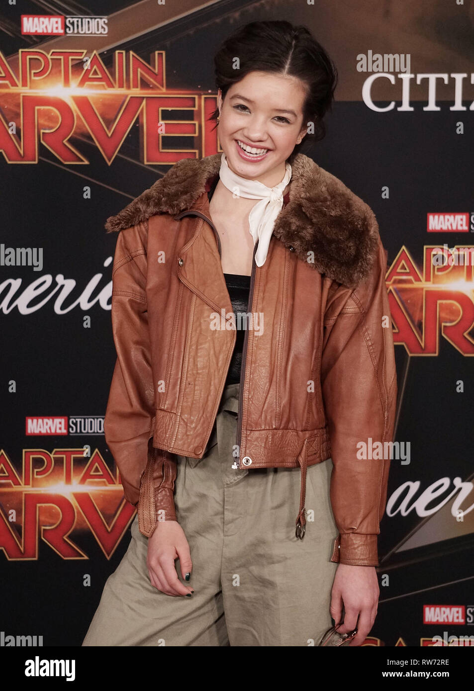 Los Angeles, USA. 04th Mar, 2019. Peyton Elizabeth Lee 075 attends the Marvel Studios 'Captain Marvel' premiere on March 04, 2019 in Hollywood, California. Credit: Tsuni/USA/Alamy Live News - Stock Image