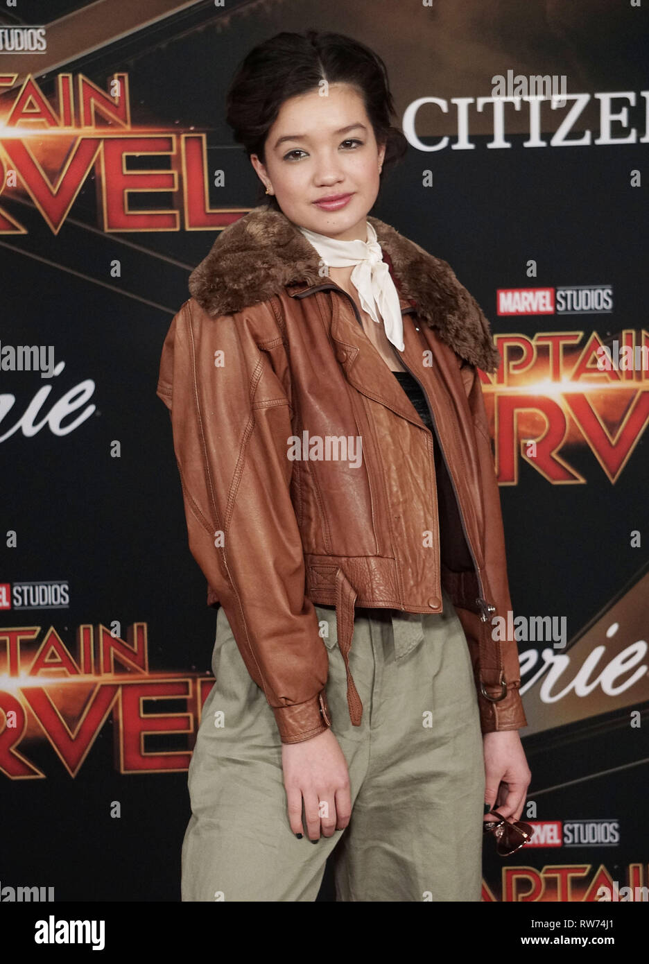 Los Angeles, USA. 04th Mar, 2019. Peyton Elizabeth Lee 123 attends the Marvel Studios 'Captain Marvel' premiere on March 04, 2019 in Hollywood, California. Credit: Tsuni/USA/Alamy Live News - Stock Image