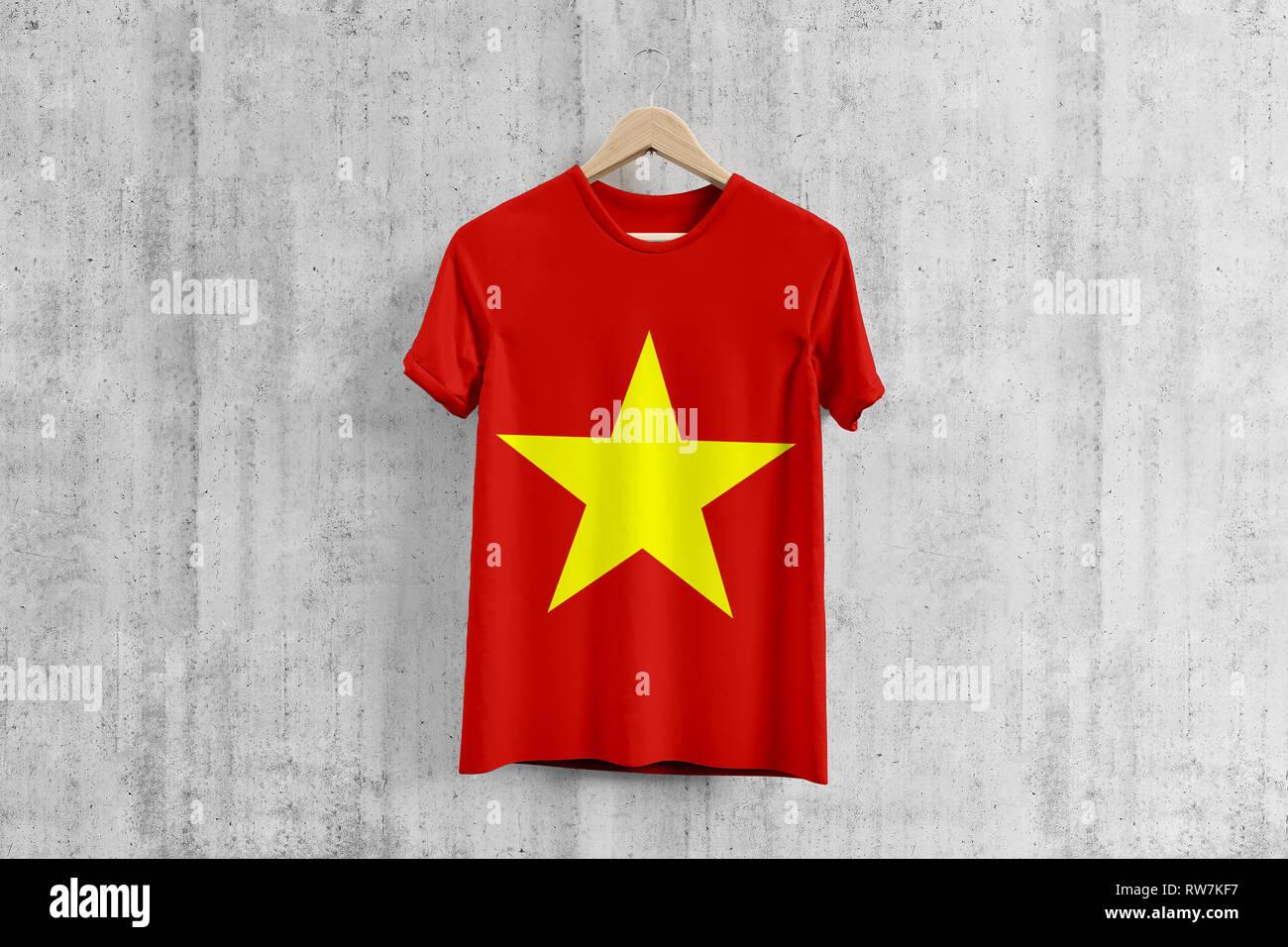 Vietnam Flag T Shirt On Hanger Vietnamese Team Uniform Design Idea