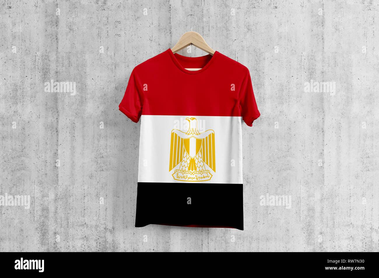 f35323be2 Egypt flag T-shirt on hanger, Egyptian team uniform design idea for garment  production
