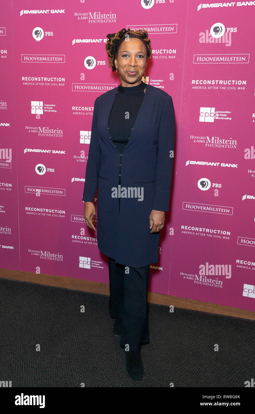 New York, United States. 04th Mar, 2019. Kimberly Crenshaw attends the Reconstruction: America After The Civil War premiere at New York Historical Society Credit: Lev Radin/Pacific Press/Alamy Live News - Stock Image