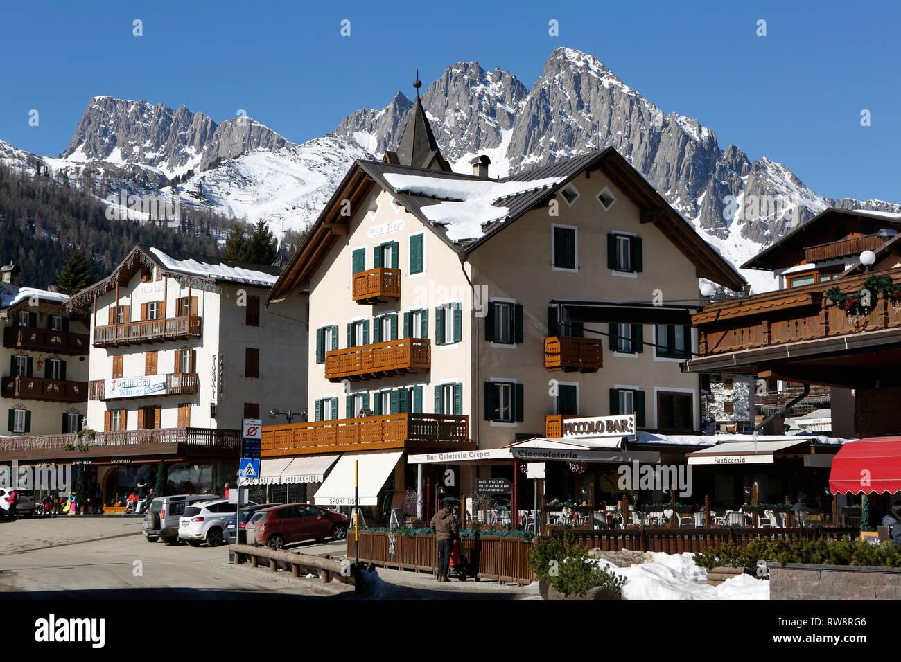 San Martino di Castrozza, Trentino, Italy, Europe Stock Photo