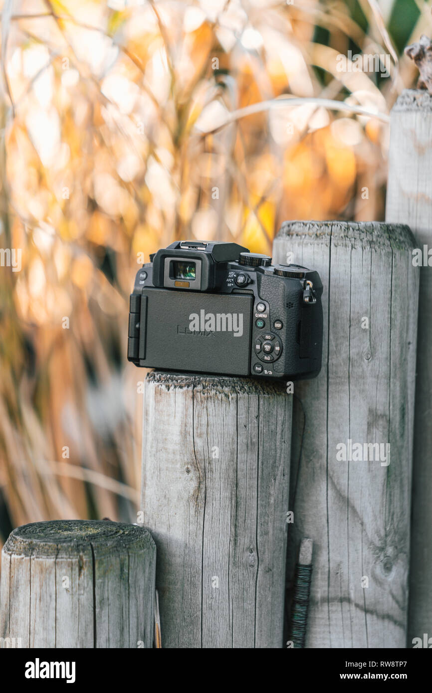 Panasonic G7 Micro Four Thirds Camera - Stock Image