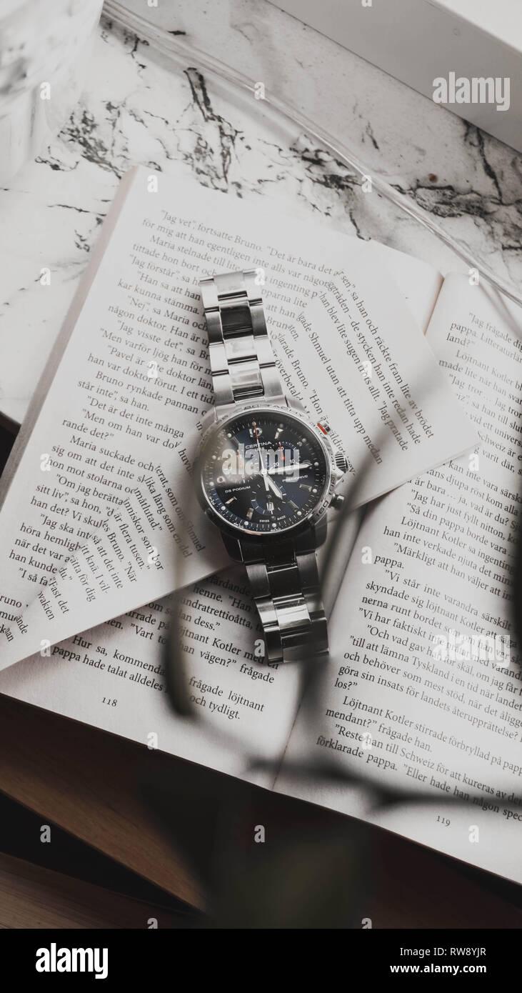Certina DS Podium Blue Sapphire Chronograph Watch - Stock Image