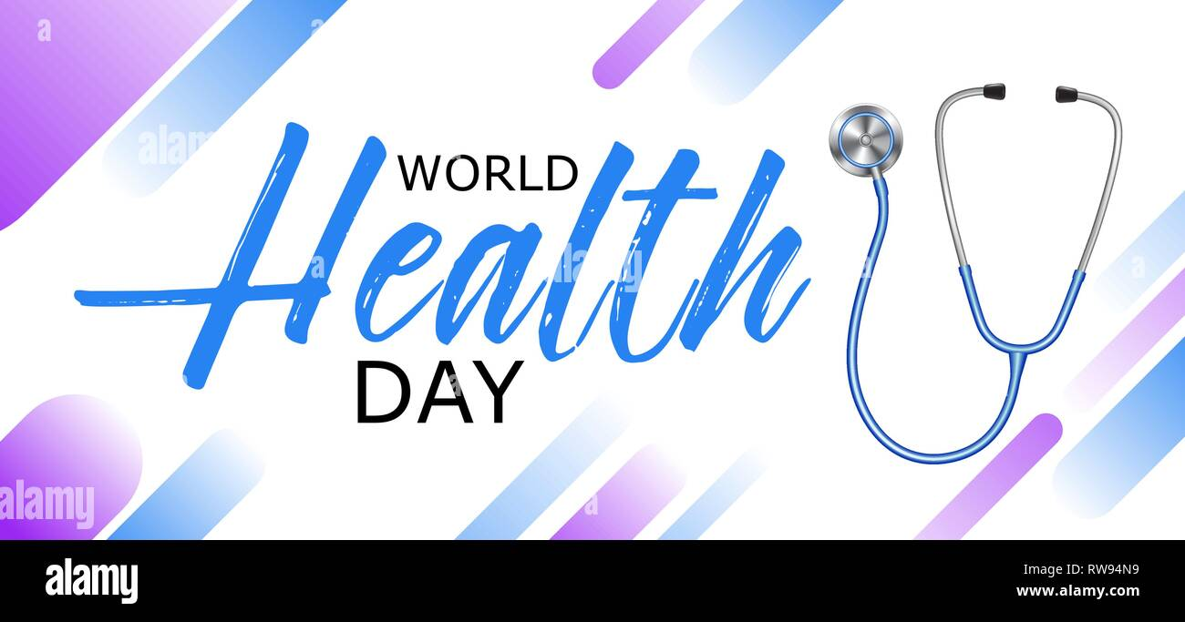 c00e0df4f309 World health day design with stethoscope, banner, poster, healthy ...