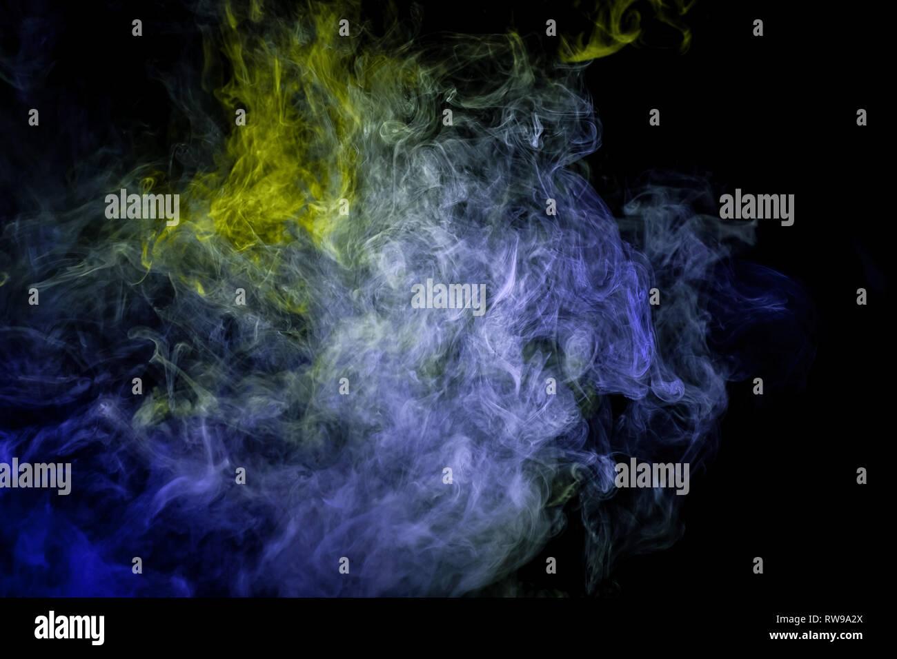 Abstract Blue Flame Smoke Frame Stock Photos Abstract Blue