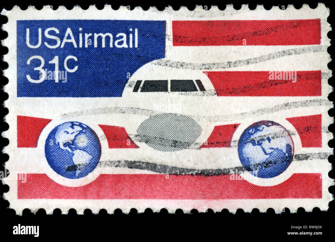 Postage stamp from United States of America (USA) in the Airmail 1974-1976 series issued in 1976 - Stock Image