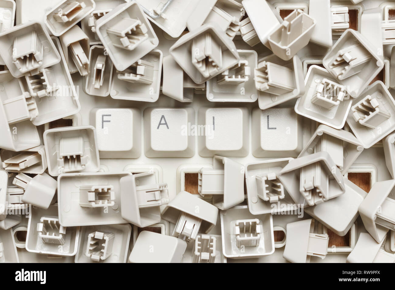 Word fail from a heap of computer keys - Stock Image