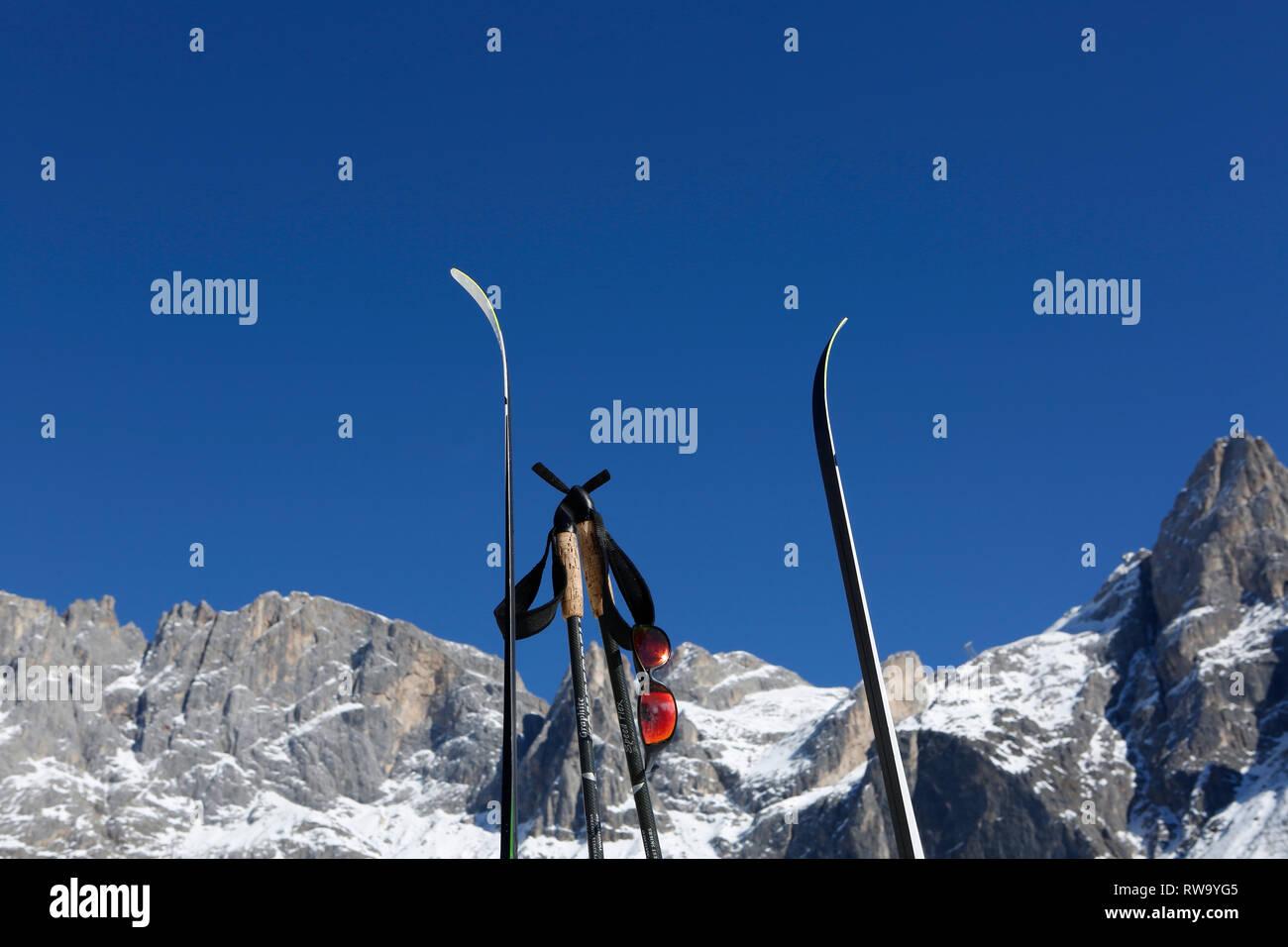 Symbolbilder,Langlauf, Skating,San Martino di Castrozza,Trentino, Italien,Europa - Stock Image