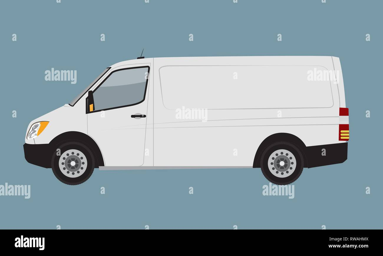 White Cargo Business Van Mock Up For Brand And Corporate Identity