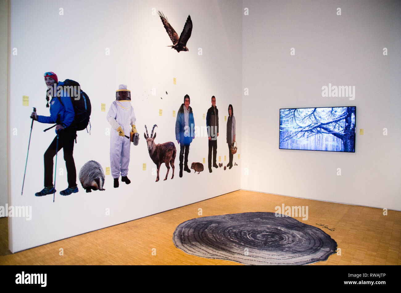 Opening of XXII Triennale di Milano, Broken Nature, Design takes on human survival, from March 1st to september 1st. - Stock Image