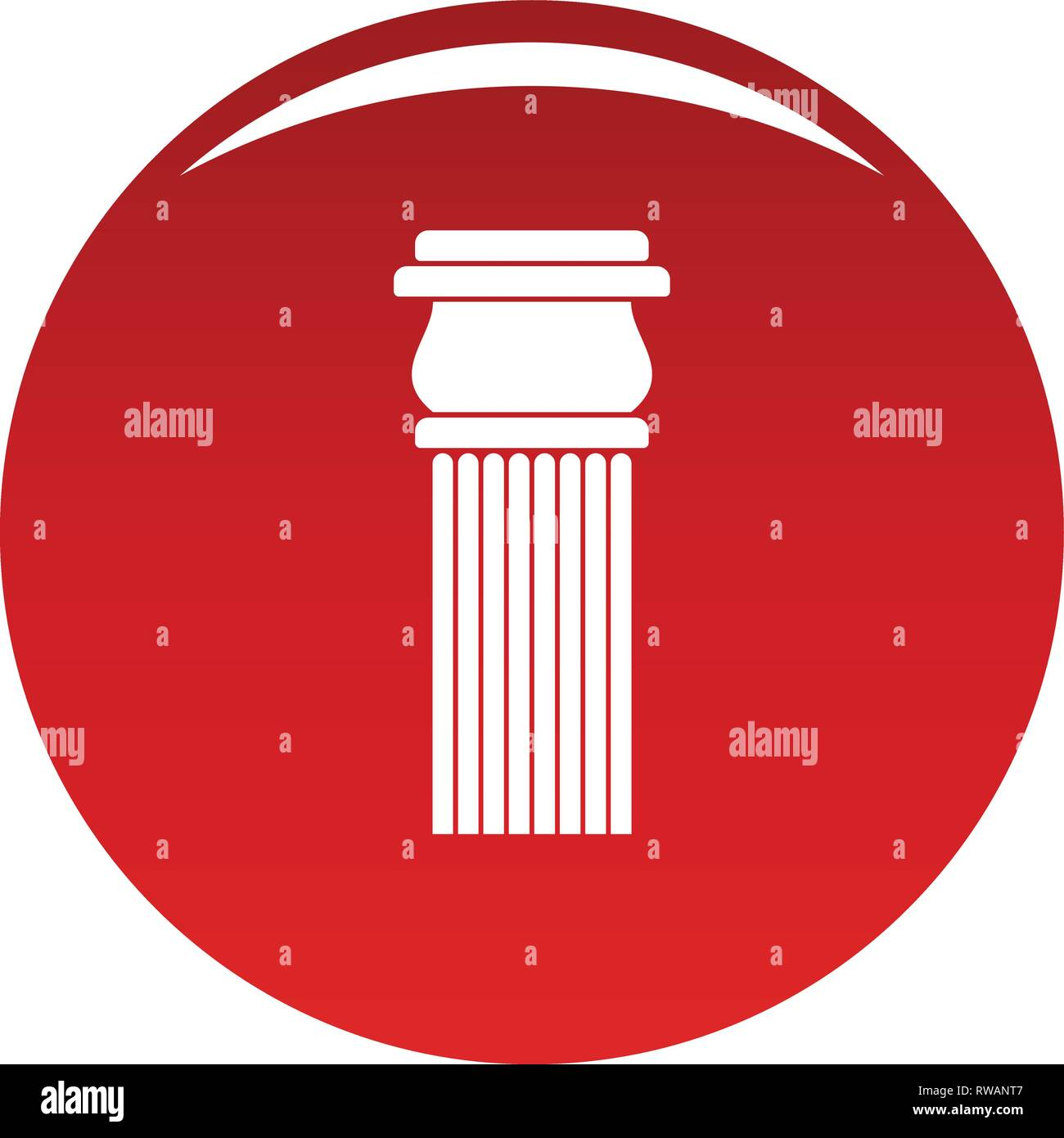 Stone column icon. Simple illustration of stone columnbaseball cap vector icon for any design red - Stock Image