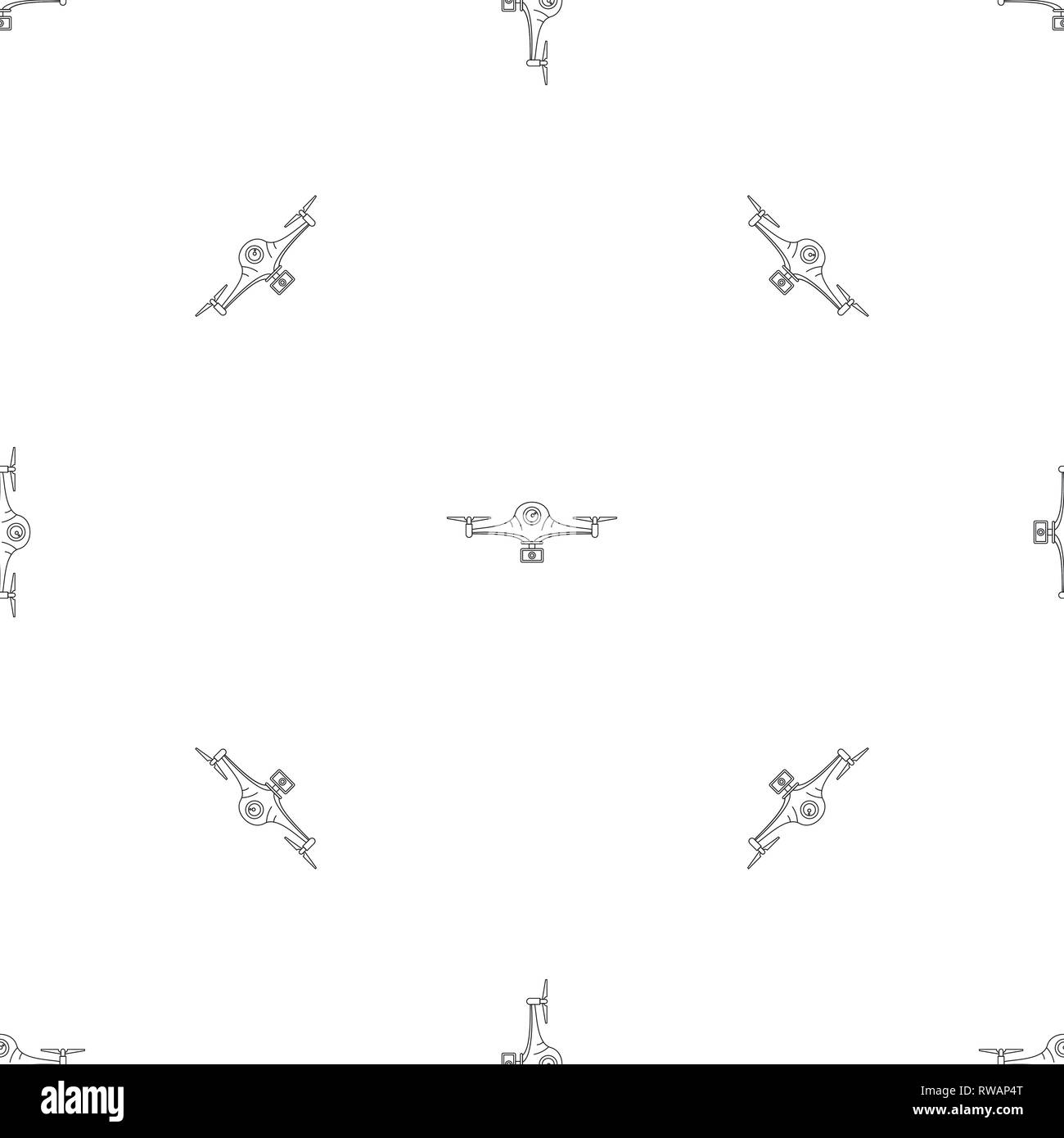 Aerial drone pattern seamless vector repeat geometric for any web design - Stock Image