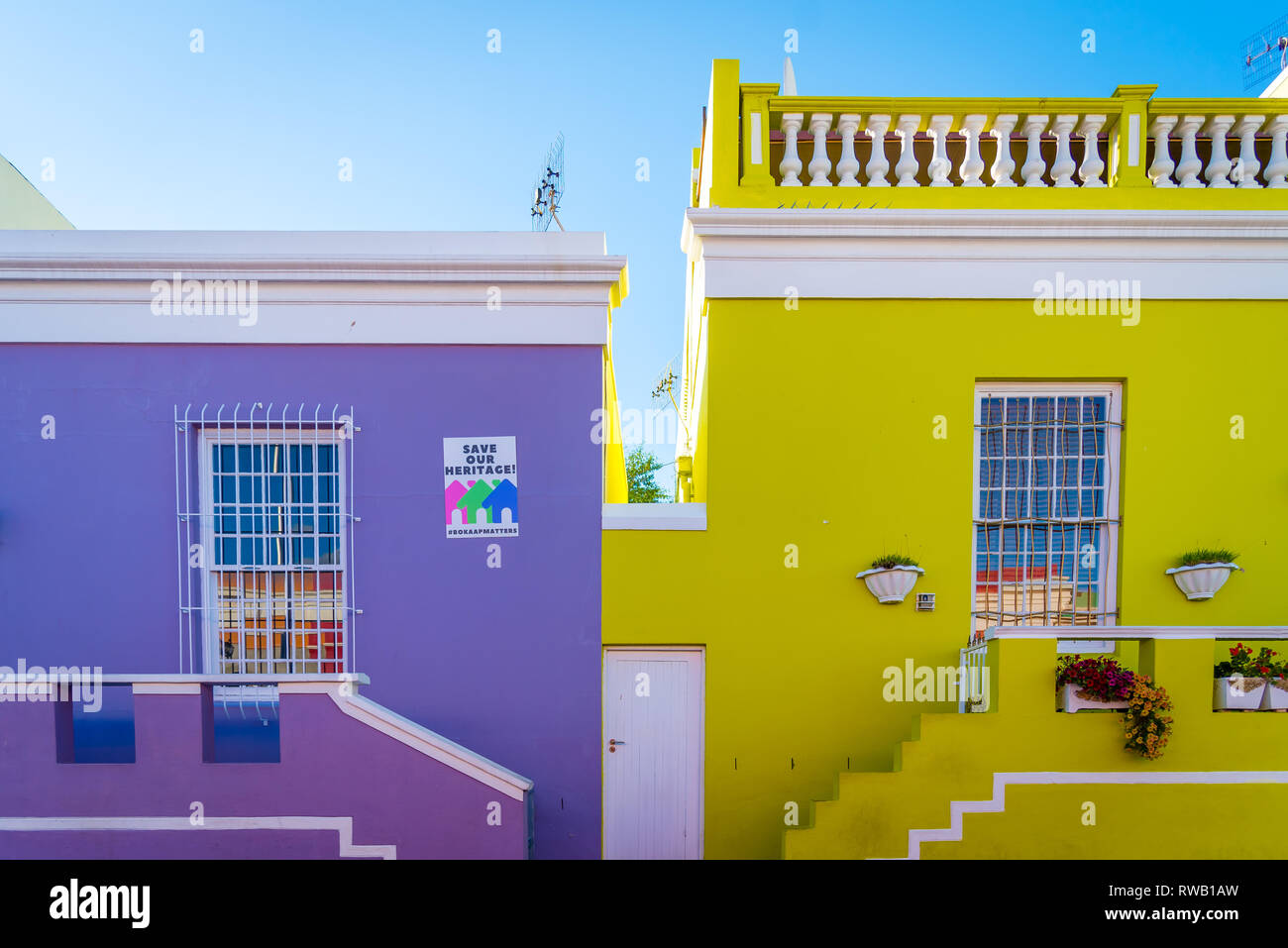The Coloured House.The Coloured Houses Of Bo Kaap Cape Town South Africa