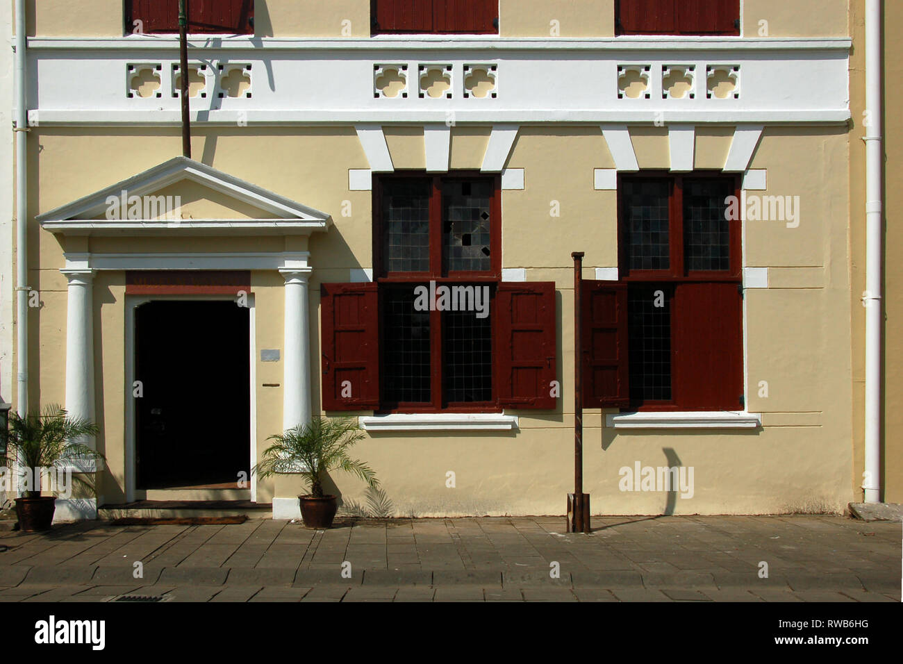 Wayang Museum in Kota Tua District in Jakarta, Indonesia. Wayang are traditional Indonesian puppets. - Stock Image