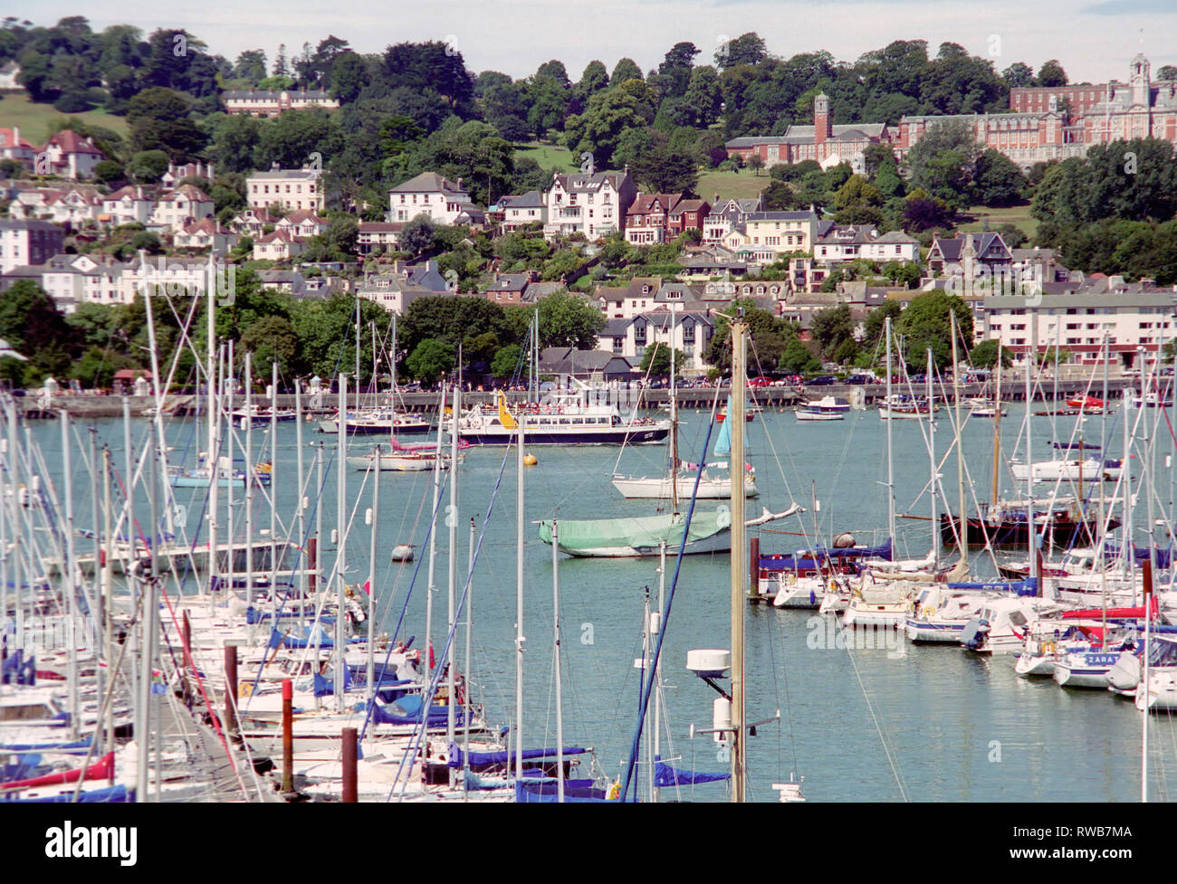 Yachts at Dartmouth, Devon in England Stock Photo