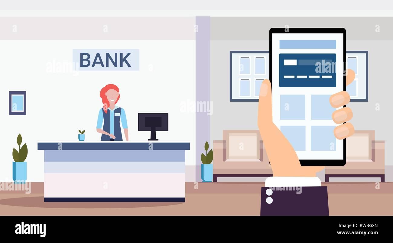interior design of bank counters
