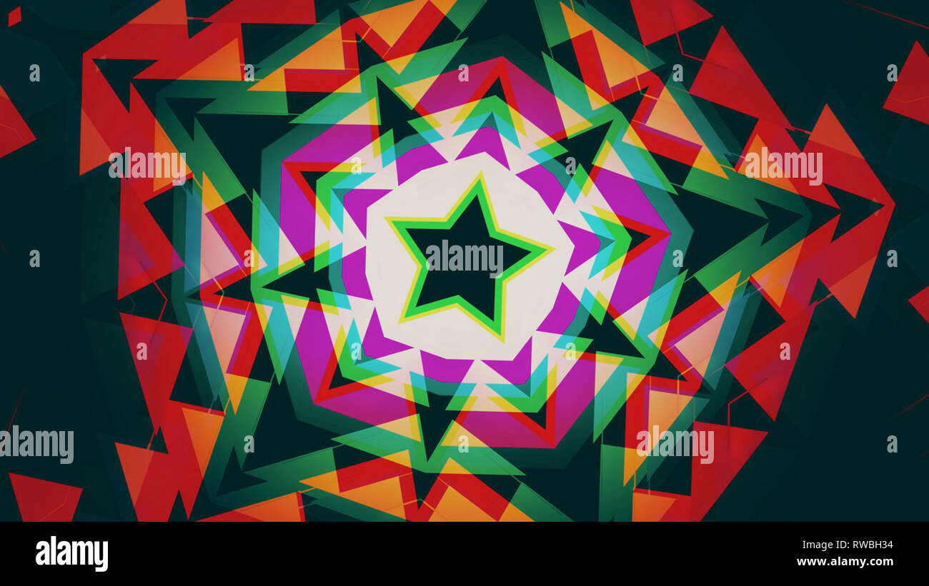 Star shaped Art Deco inspired background Stock Photo