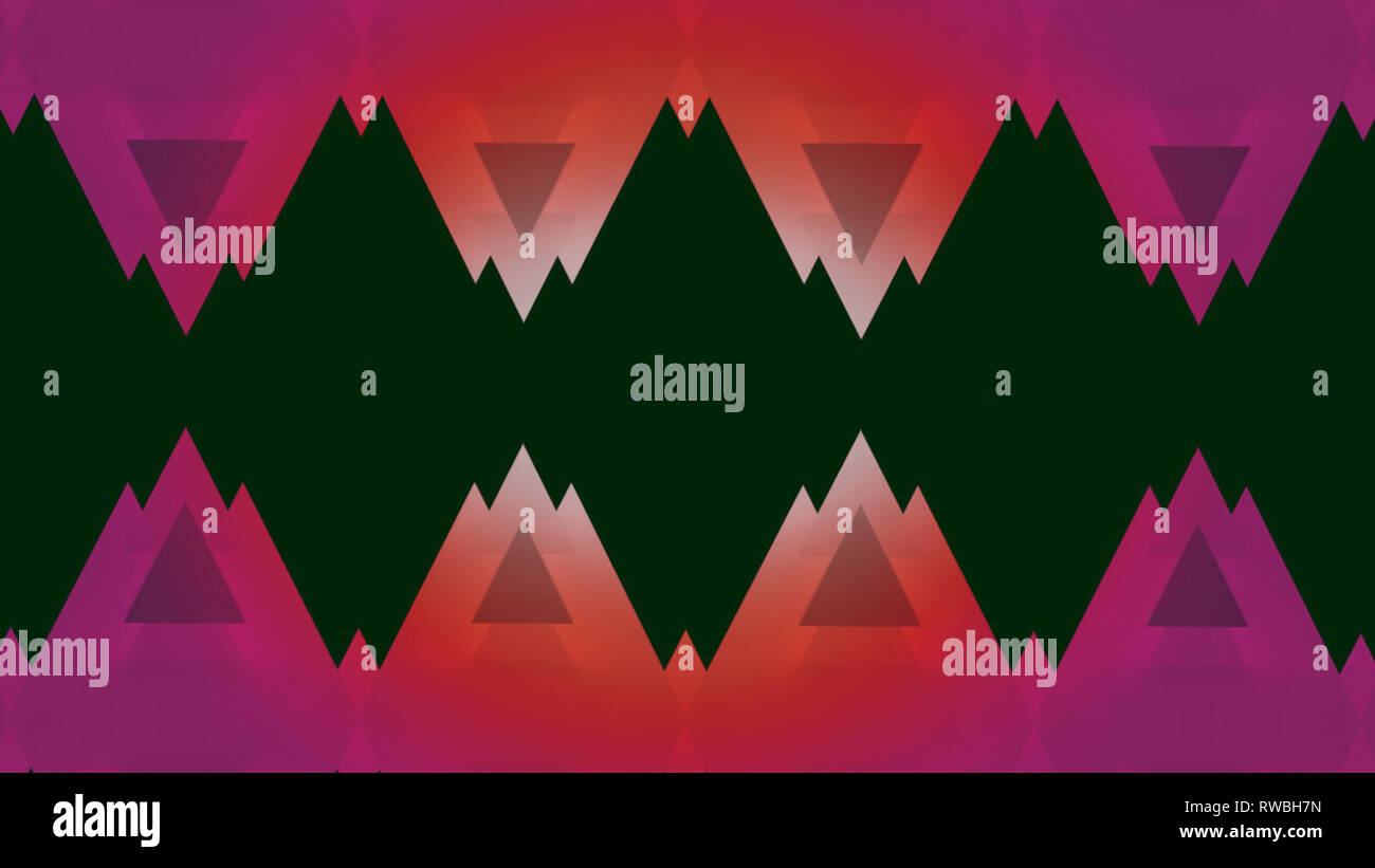 1980's and 1990's triangular style background Stock Photo