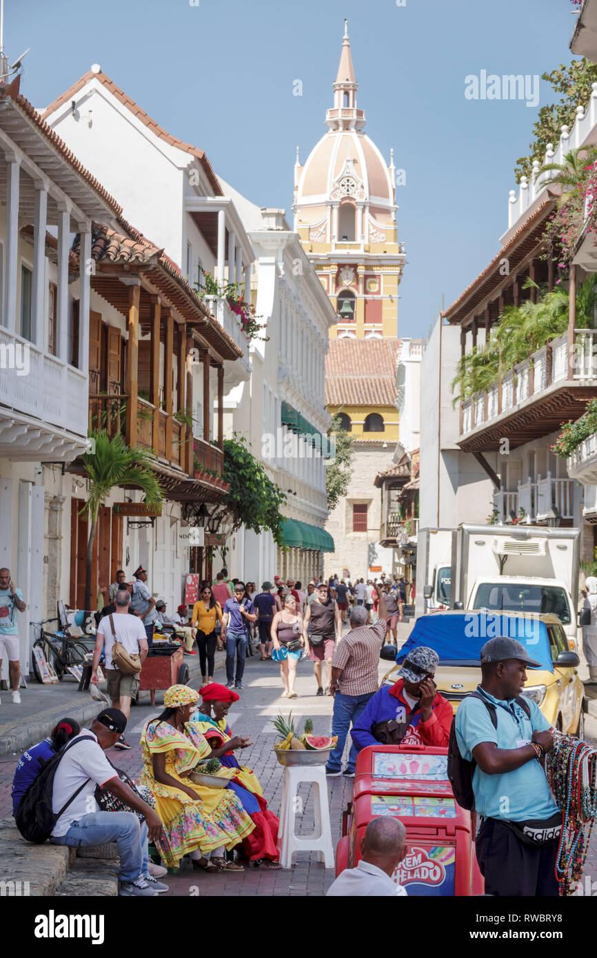 Colombia, Cartagena, Old Walled City Center centre, Ciudad Amurallada, Centro, Hispanic Hispanics Latin Latino Latinos ethnic ethnics immigrant immigr Stock Photo