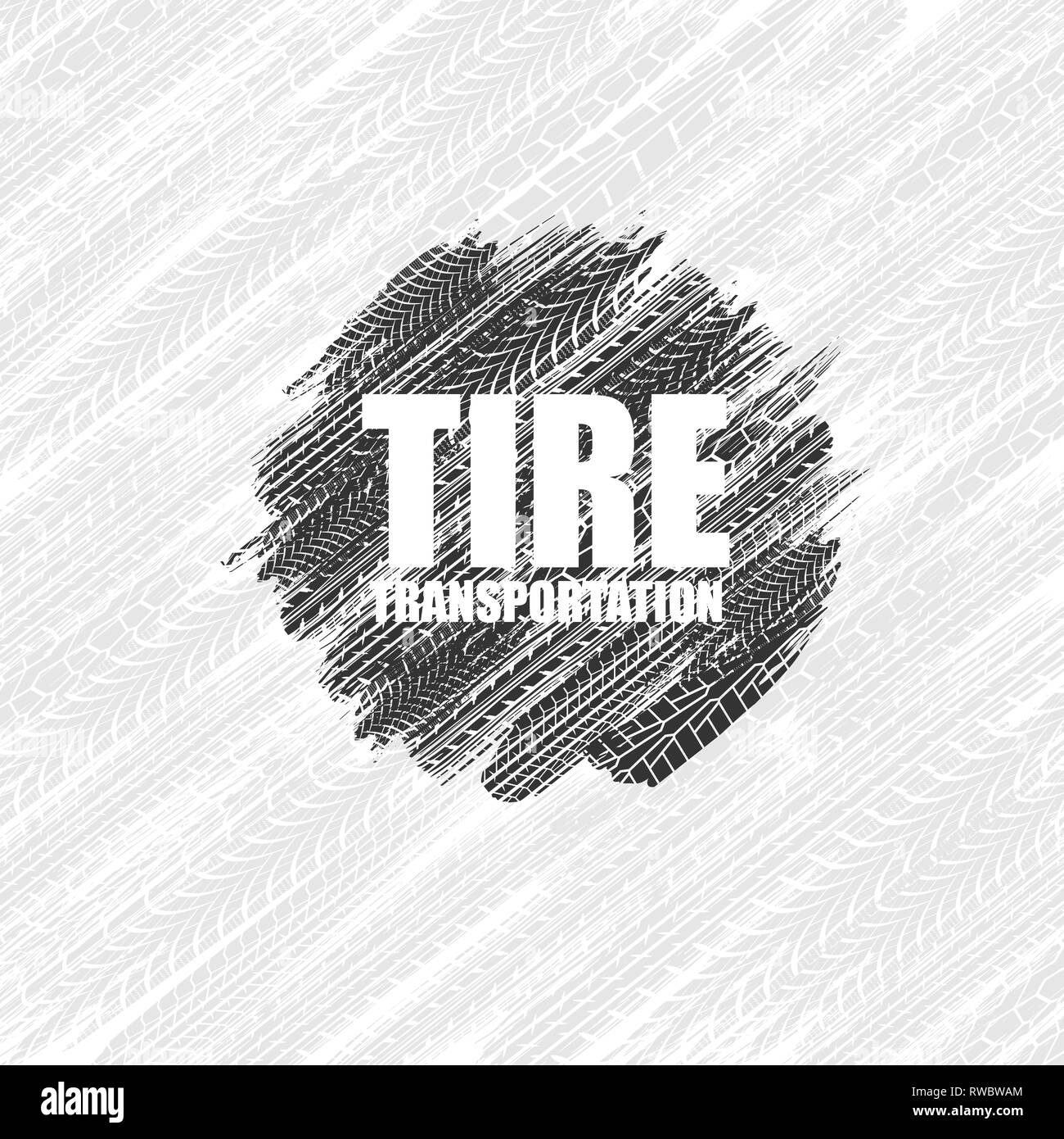 White Background With Grunge Gray Tire Tracks And Black Circle Stock Vector Image Art Alamy