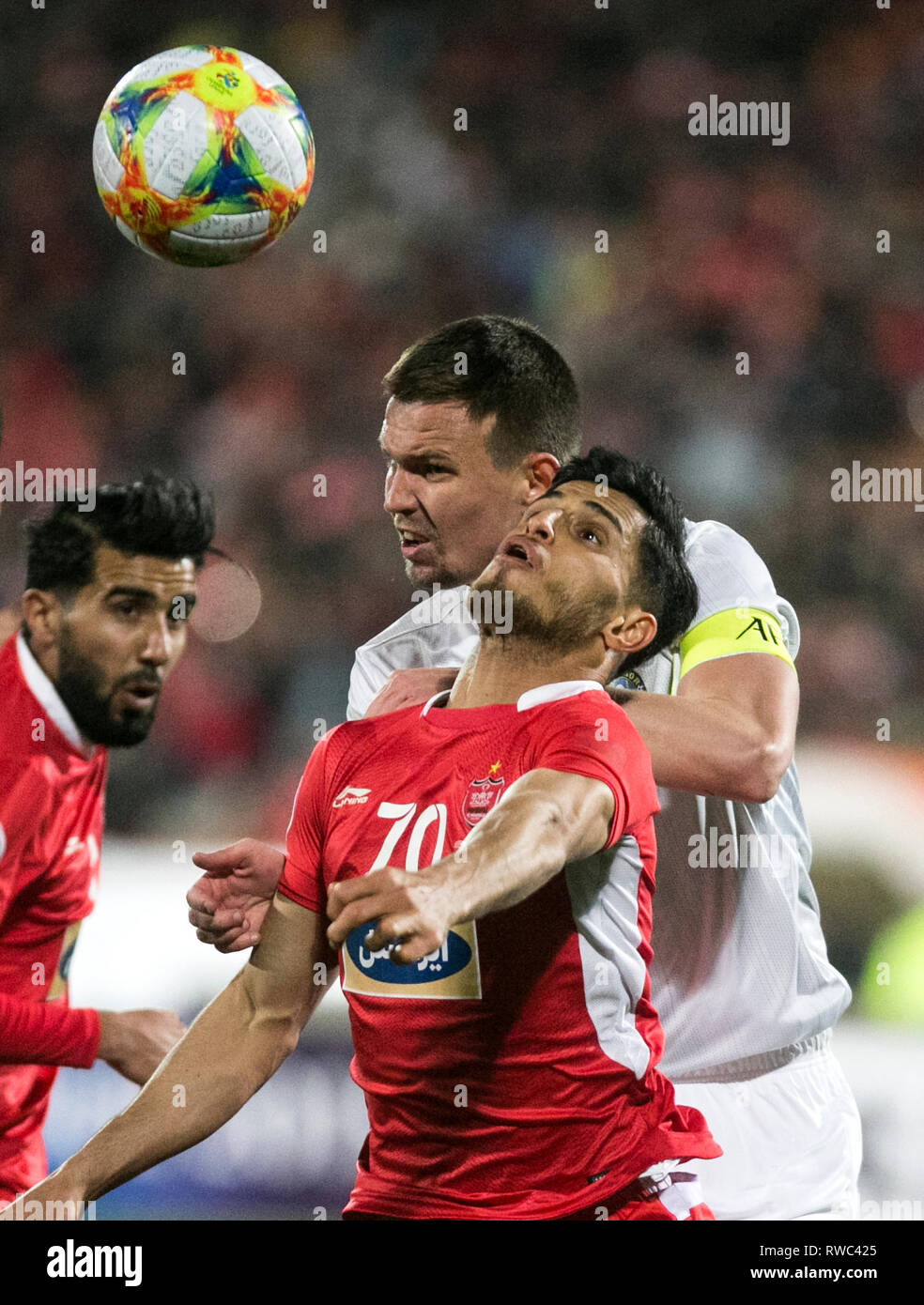 Tehran Iran 5th Mar 2019 Ali Alipour Front Of Persepolis Vies With Egor Krimets Of Pakhtakor During The Afc Champions League Group D Soccer Match Between Iran S Persepolis And Uzbekistan S Pakhtakor At