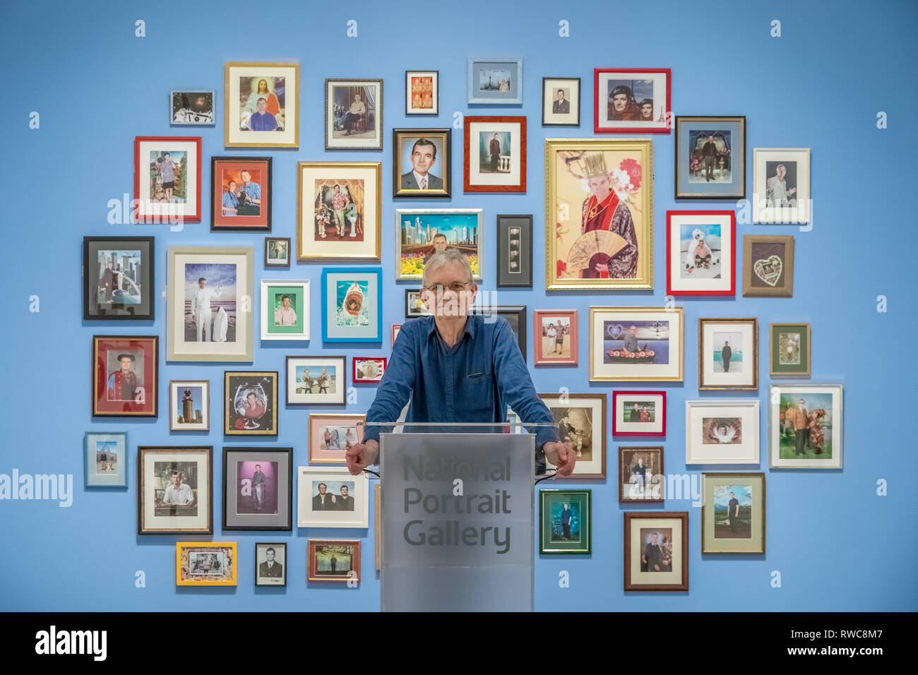 London, UK. 6th Mar, 2019. Martin Parr 'Only Human' exhibition at the National Portrait Gallery which brings together some of Parr's best known photographs with new work never exhibited before, to focus on one of his most engaging subjects - people. Credit: Guy Corbishley/Alamy Live News - Stock Image