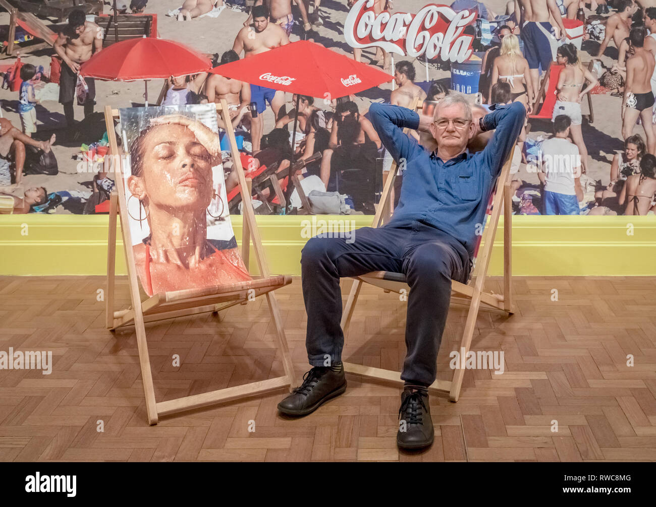 London, UK. 6th March, 2019. Martin Parr 'Only Human' exhibition at the National Portrait Gallery which brings together some of Parr's best known photographs with new work never exhibited before, to focus on one of his most engaging subjects – people. Guy Corbishley/Alamy Live News - Stock Image
