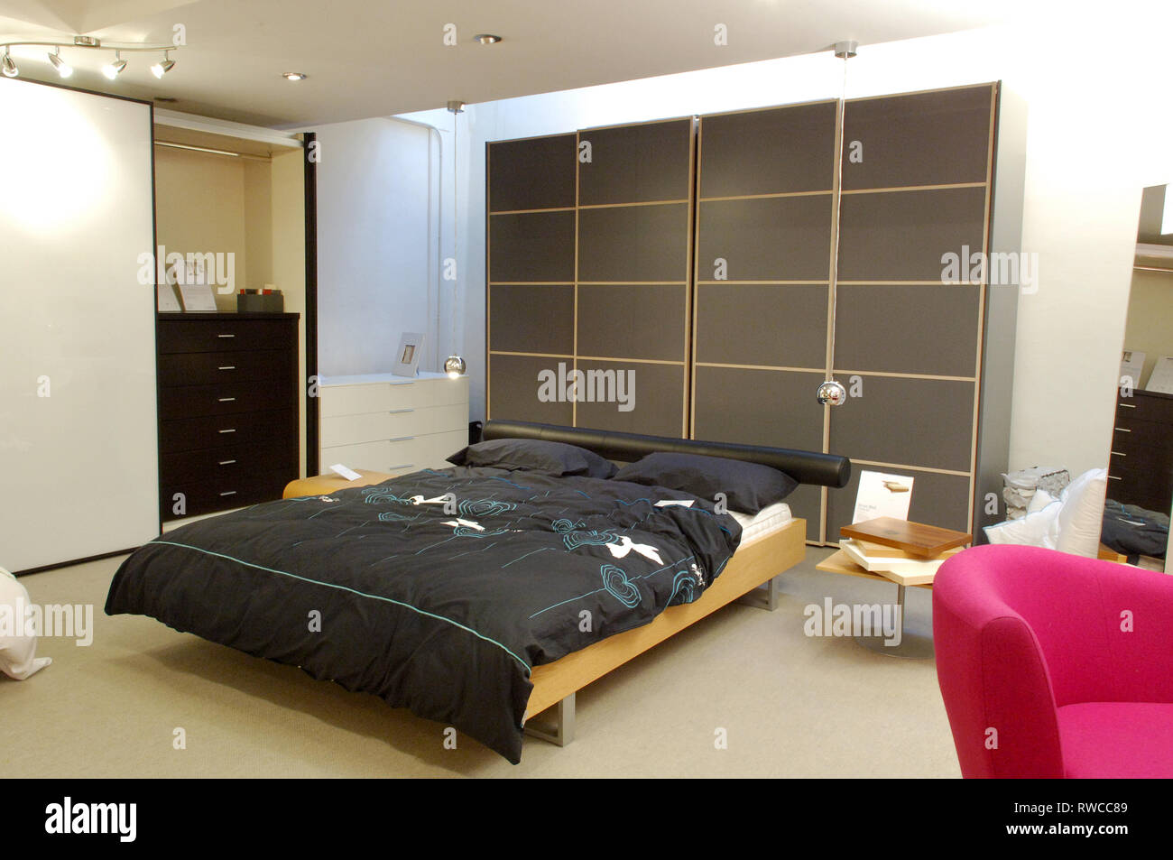 Contemporary Bedroom Furniture For Sale In A Furniture Shop Stock Photo Alamy
