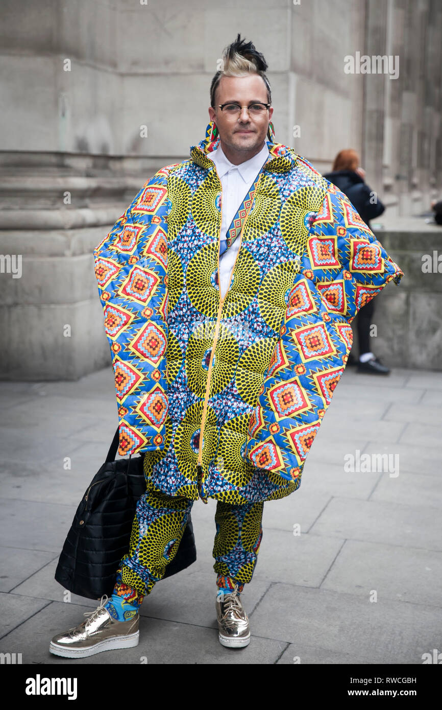 London February 15 2019 Amen Interior Fashion Is Made Up Of South African Fashion Interior Designers Brad Muttitt Abiah Superstar Mahlase For Stock Photo Alamy
