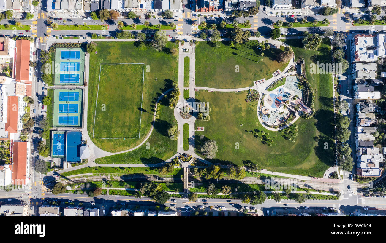 Mission Dolores Park, San Francisco, CA, USA - Stock Image