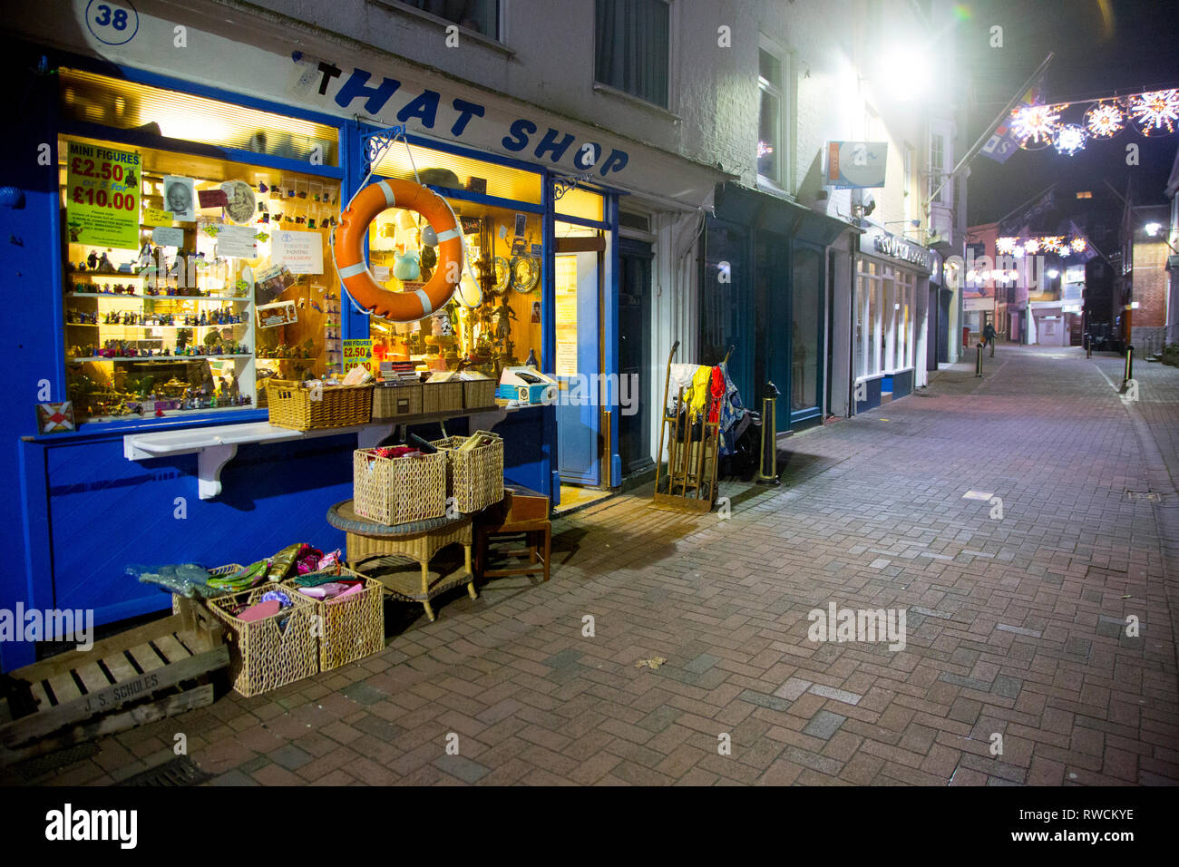 That,Shop, antique,and,curios,curio, collectables, Star Wars, vinyl, records, photos, High,Street,Cowes, Isle of Wight, UK, - Stock Image