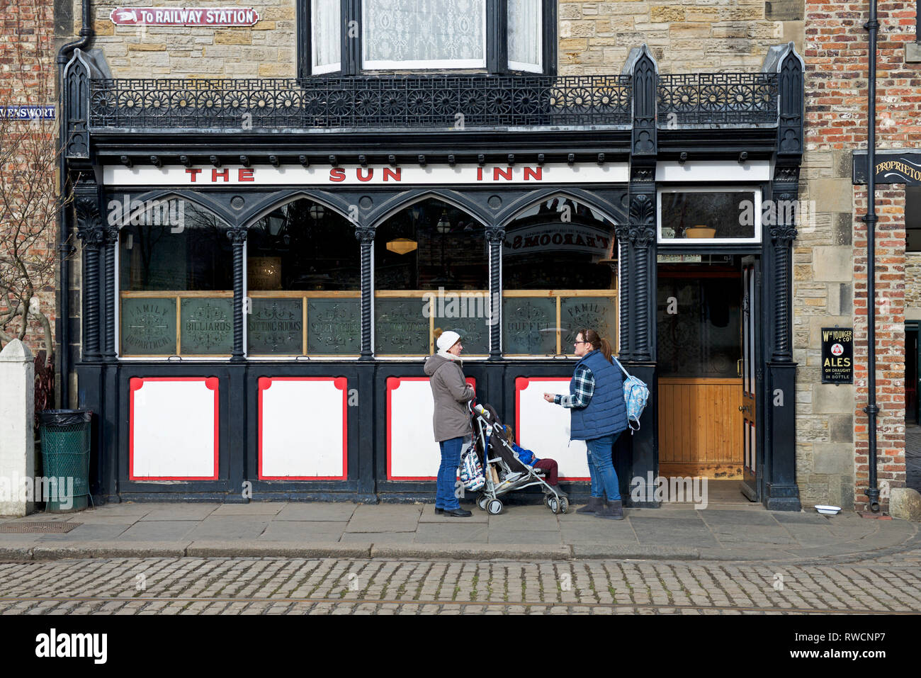 The Sun Inn, Beamish Museum, Co Durham, England UK - Stock Image