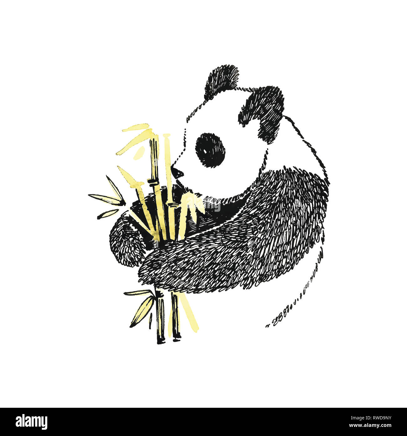 Cute Draw Panda Bear Face Cut Out Stock Images Pictures Alamy