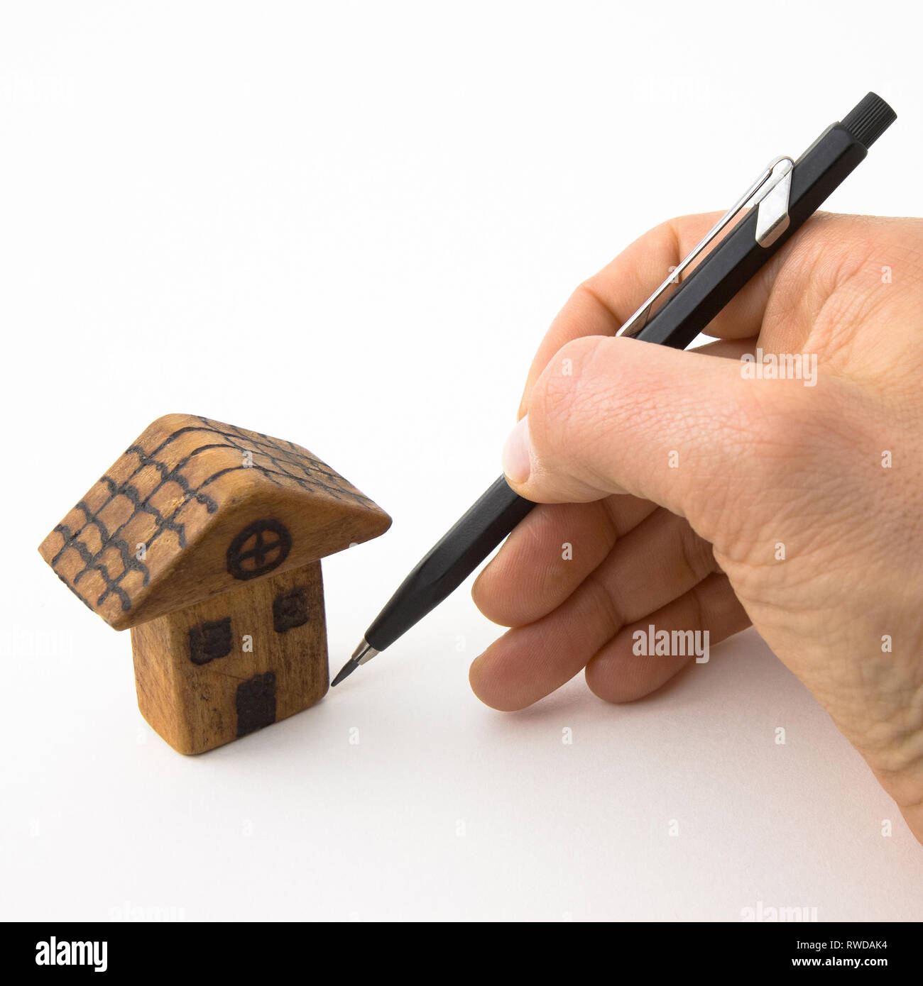 Design your future, invent your own home - concept image - Stock Image