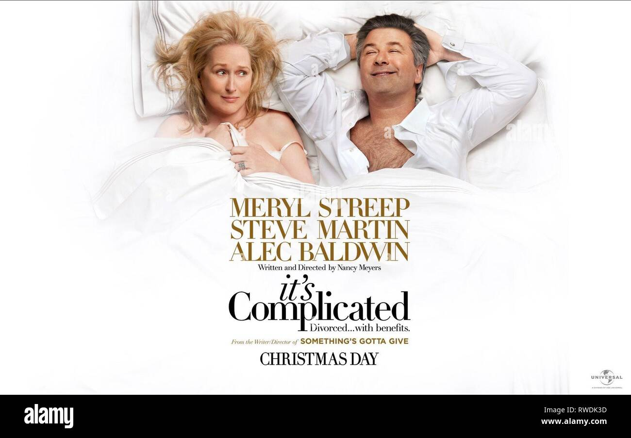 STREEP,POSTER, IT'S COMPLICATED, 2009 - Stock Image
