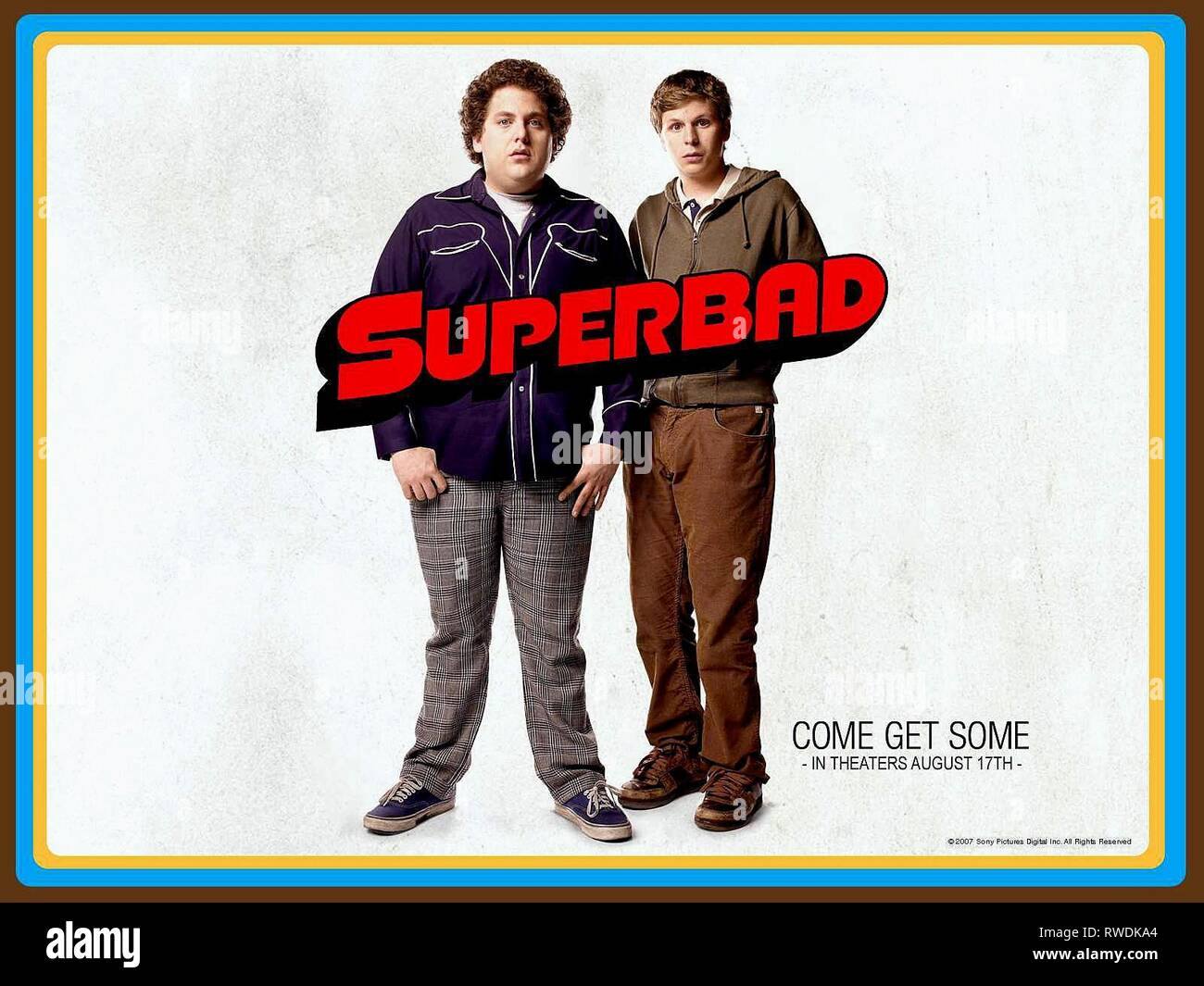 Hill Poster Superbad 2007 Stock Photo Alamy