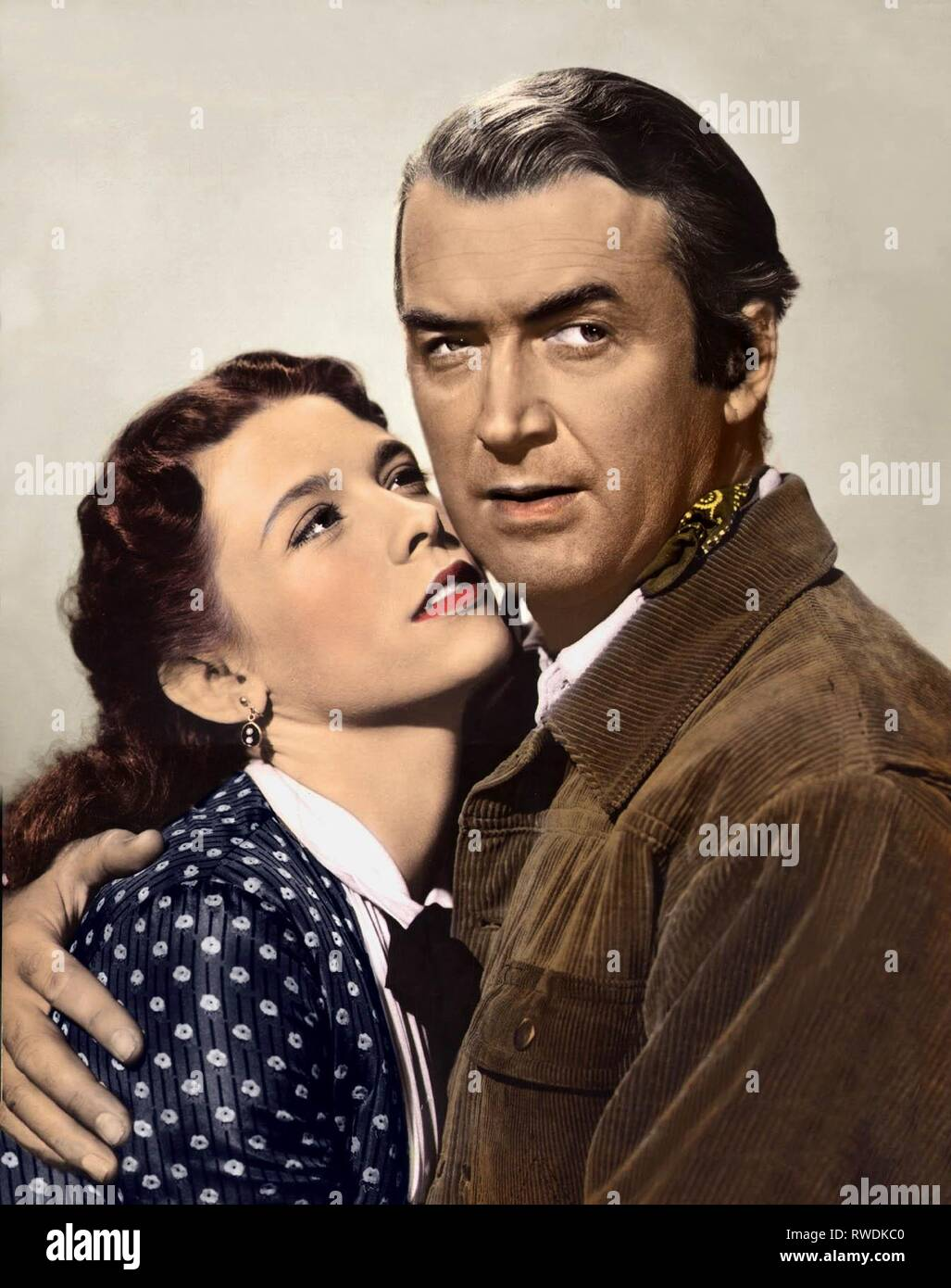 O'DONNELL,STEWART, THE MAN FROM LARAMIE, 1955 - Stock Image