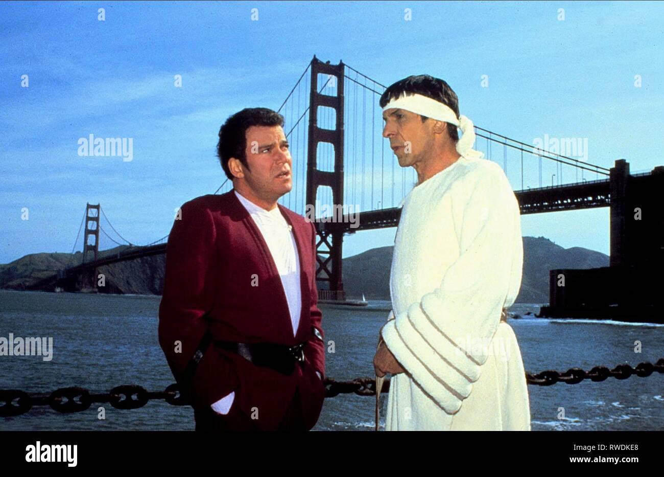 SHATNER,NIMOY, STAR TREK IV: THE VOYAGE HOME, 1986 Stock Photo