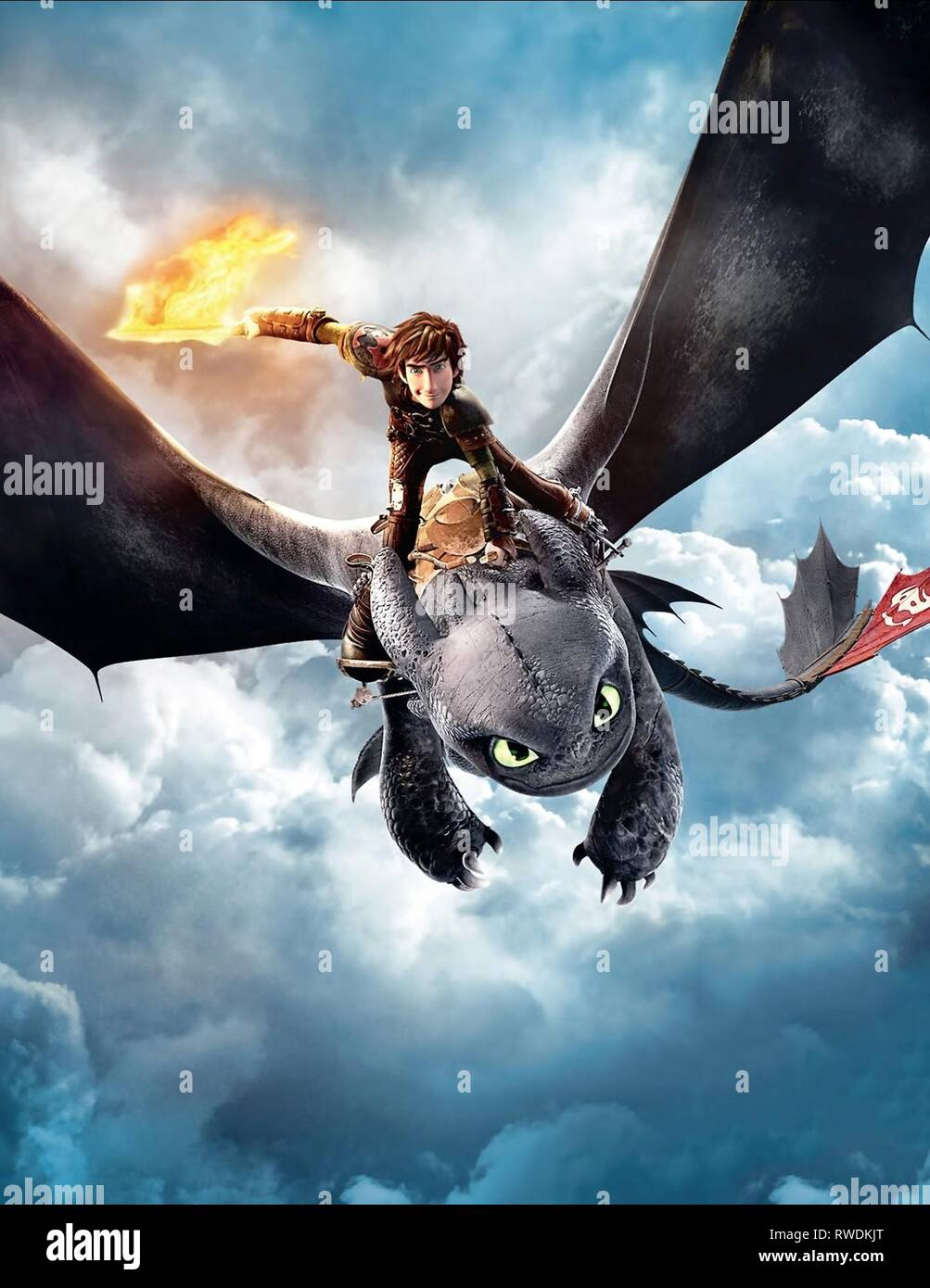 Hiccup Toothless How To Train Your Dragon 2 2014 Stock Photo Alamy