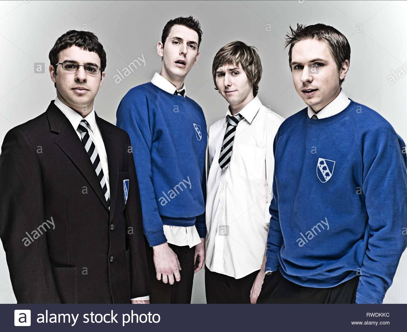 BIRD,HARRISON,BUCKLEY,THOMAS, THE INBETWEENERS, 2008 - Stock Image