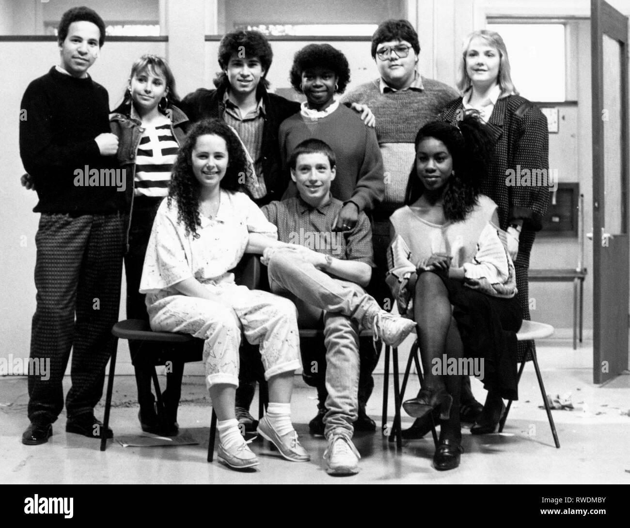 CHRYSTIE,WILKS,SIMMONDS,MCLAUGHLIN,MUSTAFA,BETTLES,MCDONALD, GRANGE HILL, 1986 Stock Photo