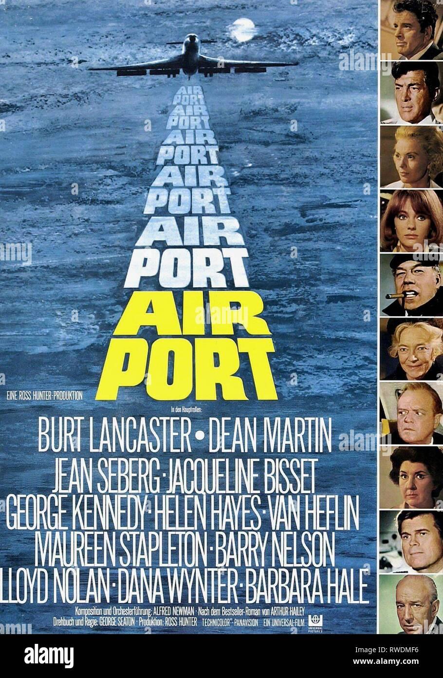 BURT LANCASTER, DEAN MARTIN, JEAN SEBERG, JACQUELINE BISSET, GEORGE KENNEDY, HELEN HAYES, VAN HEFLIN, MAUREEN STAPLETON, BARRY NELSON,LLOYD NOLAN FILM POSTER - Stock Image