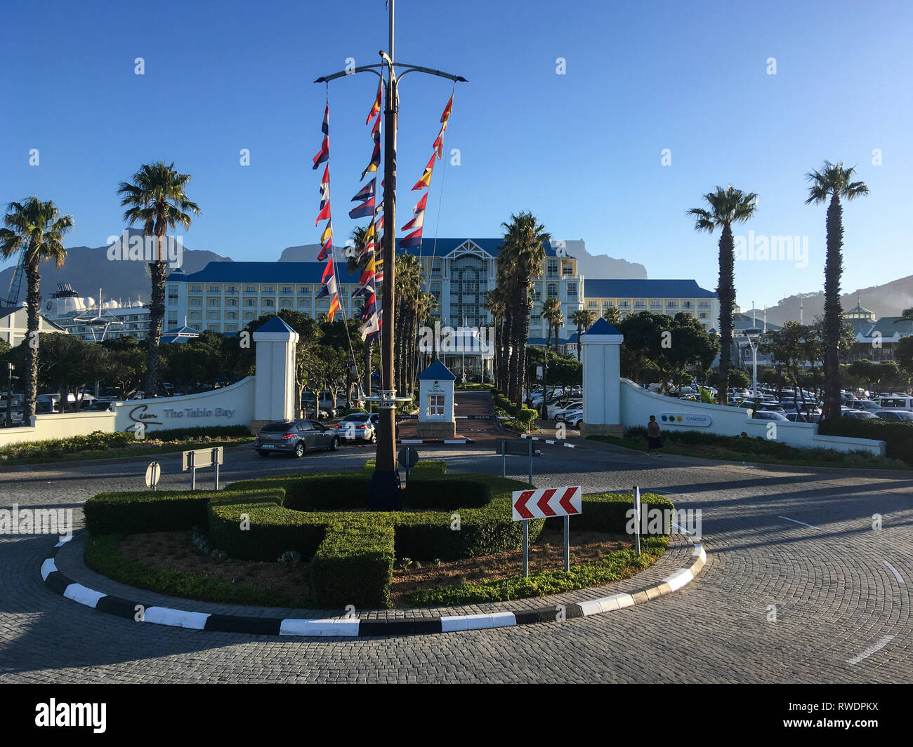 CAPE TOWN, SOUTH AFRICA - DECEMBER 31, 2018: View of Table Bay Hotel at Victoria and Alfred Waterfront in Cape Town. - Stock Image