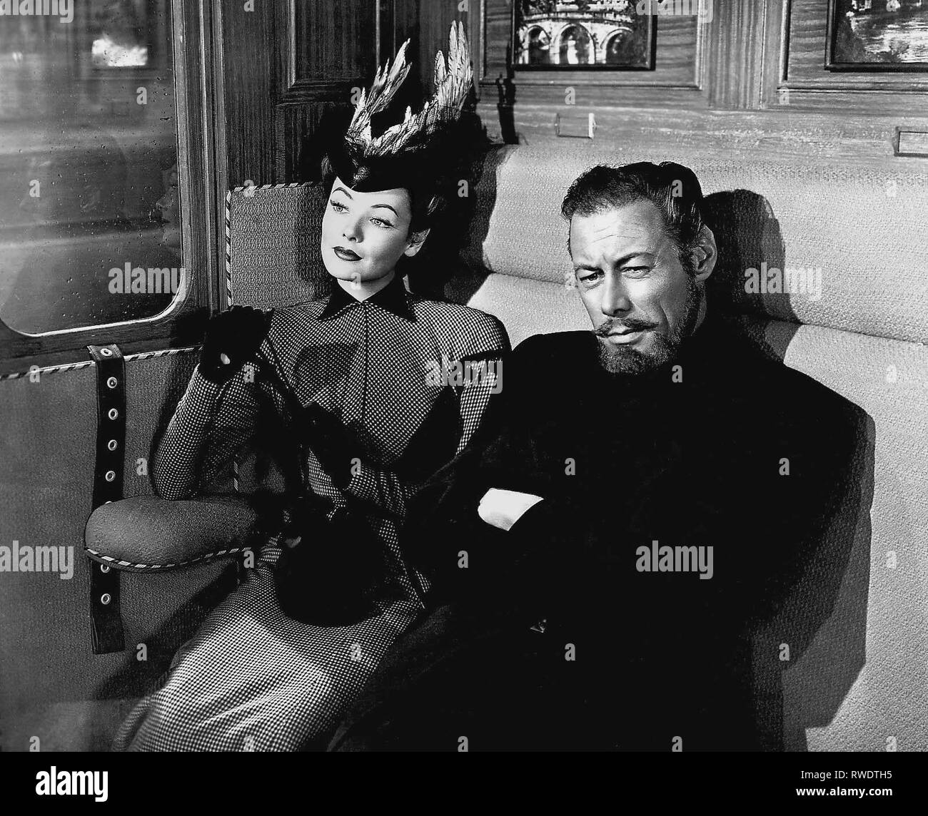 TIERNEY,HARRISON, THE GHOST AND MRS MUIR, 1947 - Stock Image