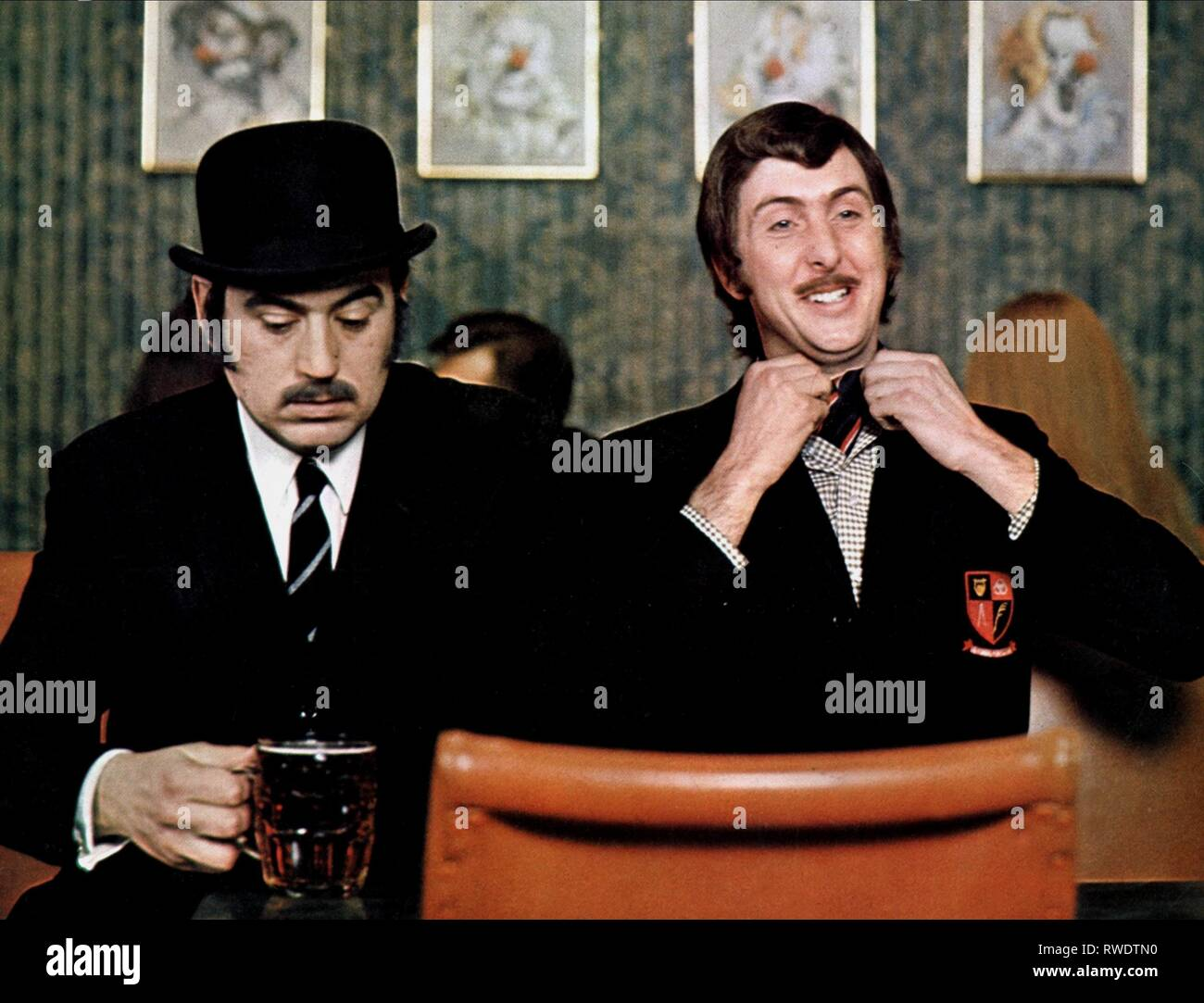 TERRY JONES,ERIC IDLE, AND NOW FOR SOMETHING COMPLETELY DIFFERENT, 1971 - Stock Image