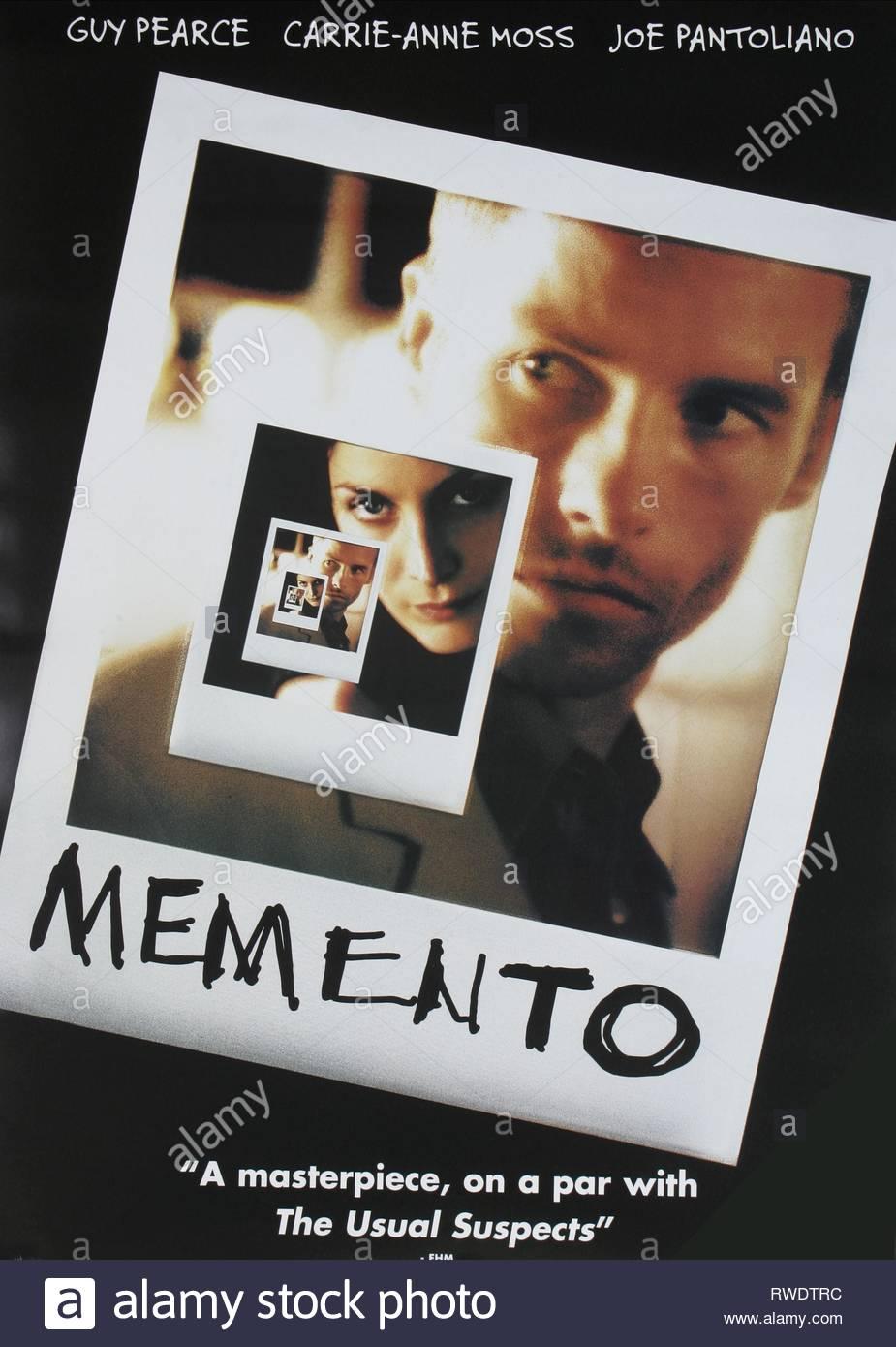 FILM POSTER, MEMENTO, 2000 - Stock Image