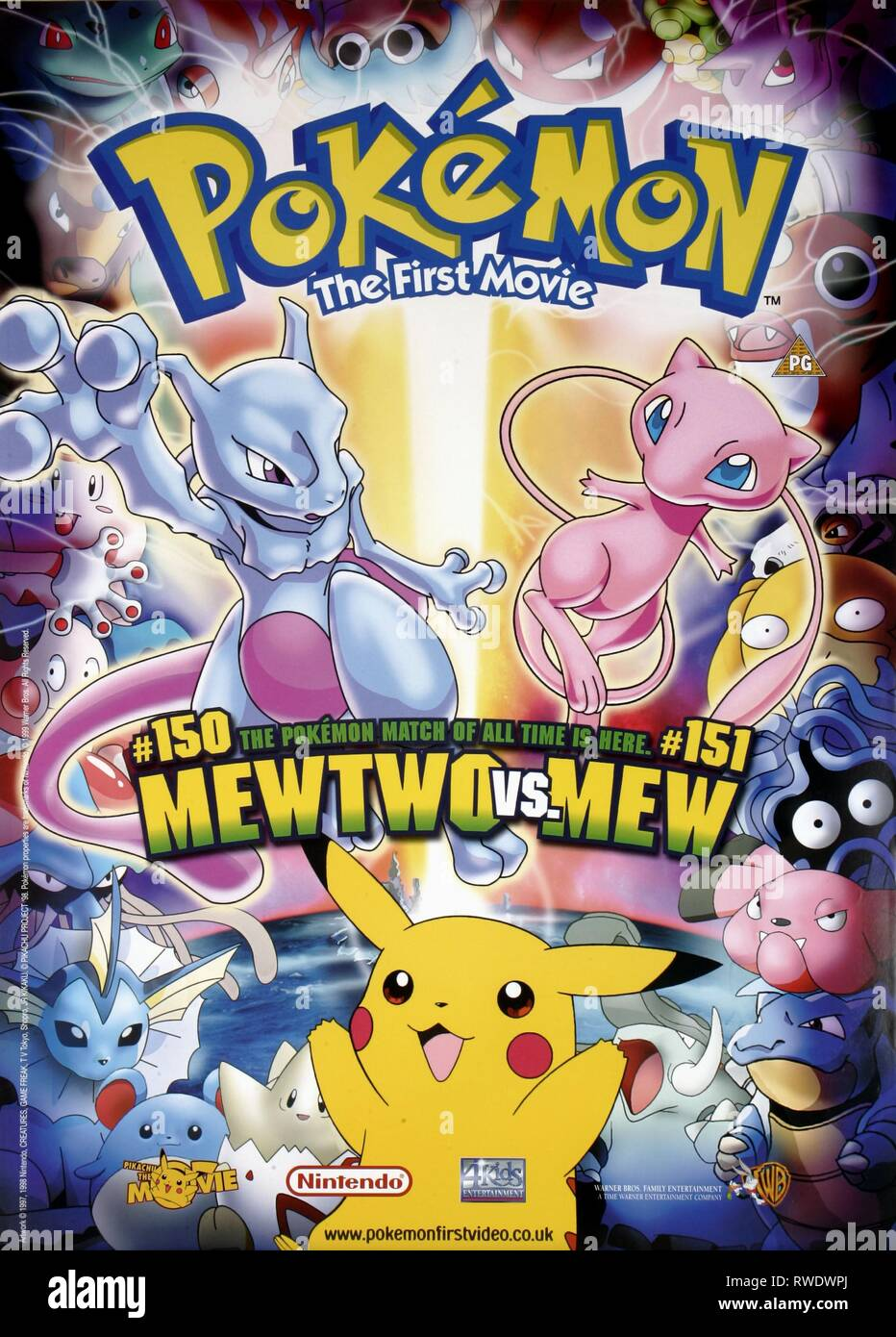 Film Poster Pokemon The First Movie Mewtwo Strikes Back 1998