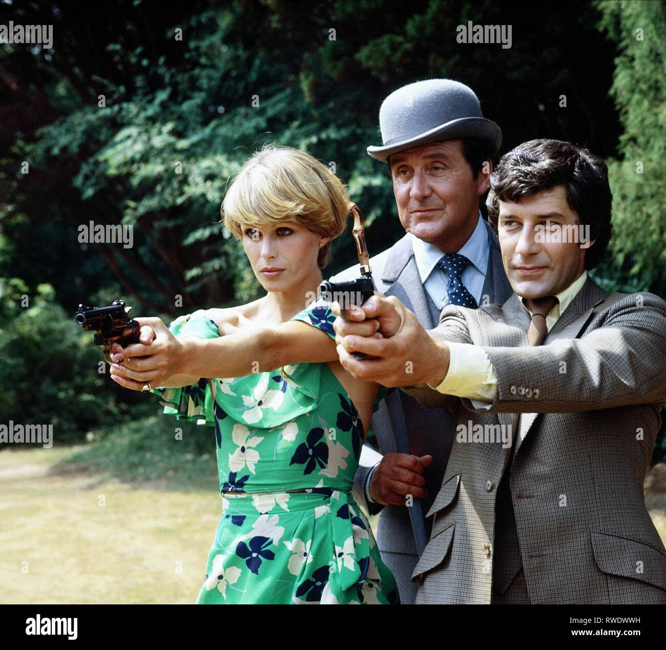 LUMLEY,MACNEE,HUNT, THE NEW AVENGERS, 1976 - Stock Image