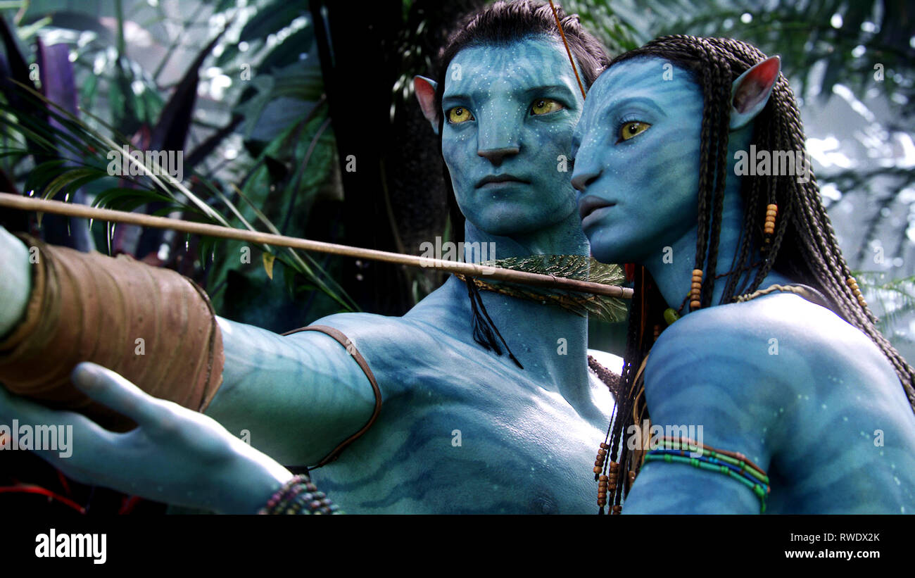 WORTHINGTON,SALDANA, AVATAR, 2009 - Stock Image